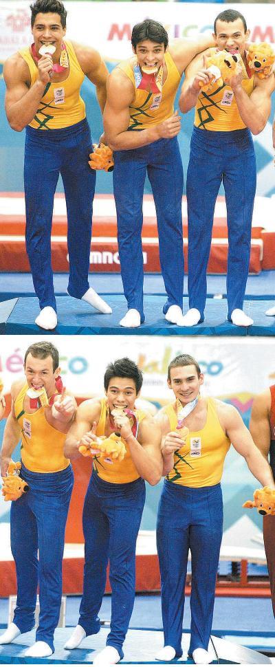 A ginástica masculina foi medalha de ouro nos Jogos Panamericanos 2011 em Guadalajara com Diego  Hypolito, Francisco Barreto,  Petix Barbosa, Péricles da Silva,  Arthur Zanetti e Sergio Sasaki  Junior