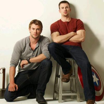 Chris Hemsworth e Chris Evans
