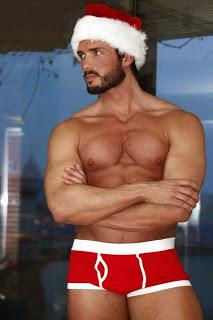 Papai Noel de cueca vermelha