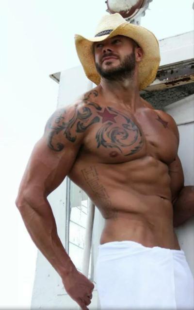 Cowboy de toalha